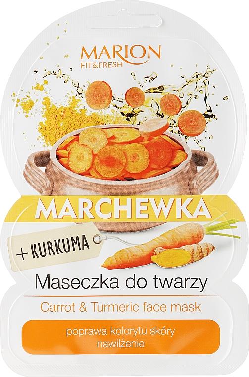 Feuchtigkeitsspendende Gesichtsmaske mit Karotte und Kurkuma - Marion Fit & Fresh Carrot & Turmeric Face Mask