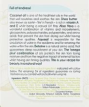 Feuchtigkeitsspendende Gesichtscreme für Tag und Nacht mit natürlichem Kokosnussöl - Delia Botanical Flow Moisturising Day & Night Cream Coconut Oil — Bild N3