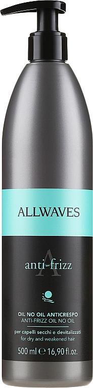 Schützende und glättende Textur für widerspenstiges Haar - Allwaves Anti-Frizz Oil No Oil