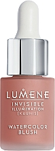 Düfte, Parfümerie und Kosmetik Flüssiges Rouge - Lumene Invisible Illumination Watercolor Blush