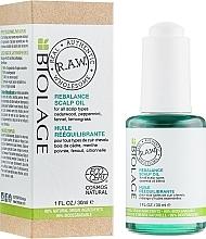 Düfte, Parfümerie und Kosmetik Kopfhautöl mit Zedernholz, Pfefferminze und Zitronengras - Biolage R.A.W. Scalp Care Rebalance Scalp Oil