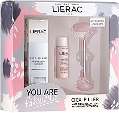 Düfte, Parfümerie und Kosmetik Gesichtspflegeset - Lierac Cica-Filler Set (Gesichtscreme 40ml + Gesichtsmilch 30ml + Massageroller 1 St.)