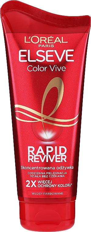 Pflegende und farbschützende Haarspülung für coloriertes Haar - L`Oreal Paris Elseve Rapid Reviver Dry Hair Conditioner