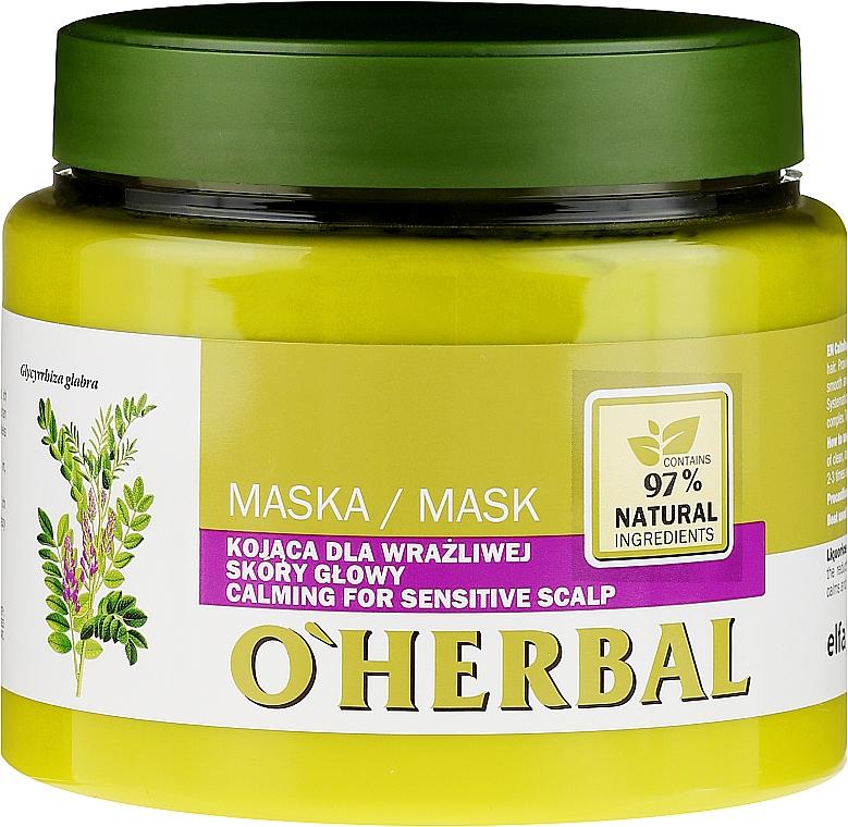 Beruhigende Haarmaske mit Lakritzextrakt für empfindliche Kopfhaut - O'Herbal