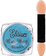 Düfte, Parfümerie und Kosmetik Nagelpuder blau - Elisium Blue Bling Powder