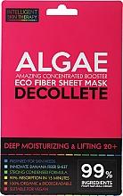 Düfte, Parfümerie und Kosmetik Tief feuchtigkeitsspendende Lifting-Tuchmaske für das Dekolleté mit Algen 20+ - Beauty Face IST Deep Moisturizing & Lifting Decolette Mask Algae