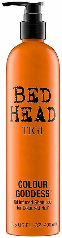 Oil Infused farbpflegendes Shampoo für coloriertes Haar - Tigi Bed Head Colour Goddess Oil Infused Shampoo — Bild N1