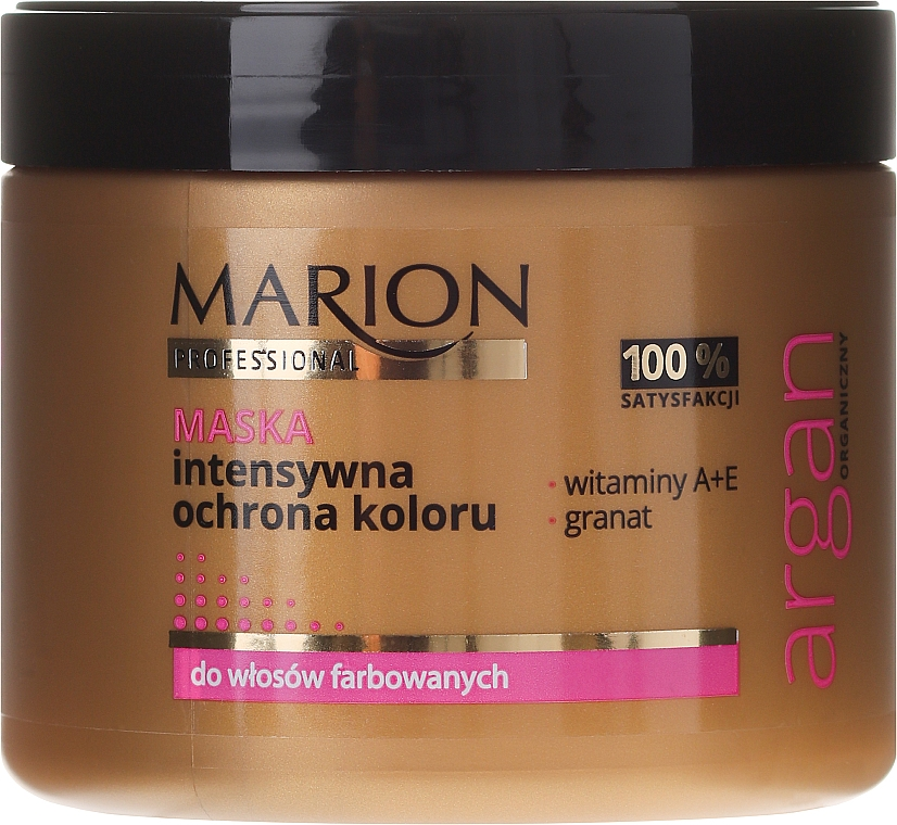 Farbschutz-Haarmaske für coloriertes Haar mit Vitamin A und E - Marion Professional Argan Intensive Colour Protection Hair Mask