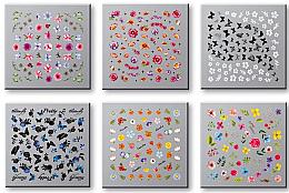 Düfte, Parfümerie und Kosmetik Set Dekorative Nagelsticker 6 St. 42751 - Top Choice Nail Decorations Stickers Set