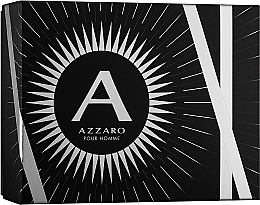 Düfte, Parfümerie und Kosmetik Azzaro Pour Homme - Duftset (Eau de Toilette 100ml + Shampoo und Duschgel 100ml + After Shave Balsam 50ml)