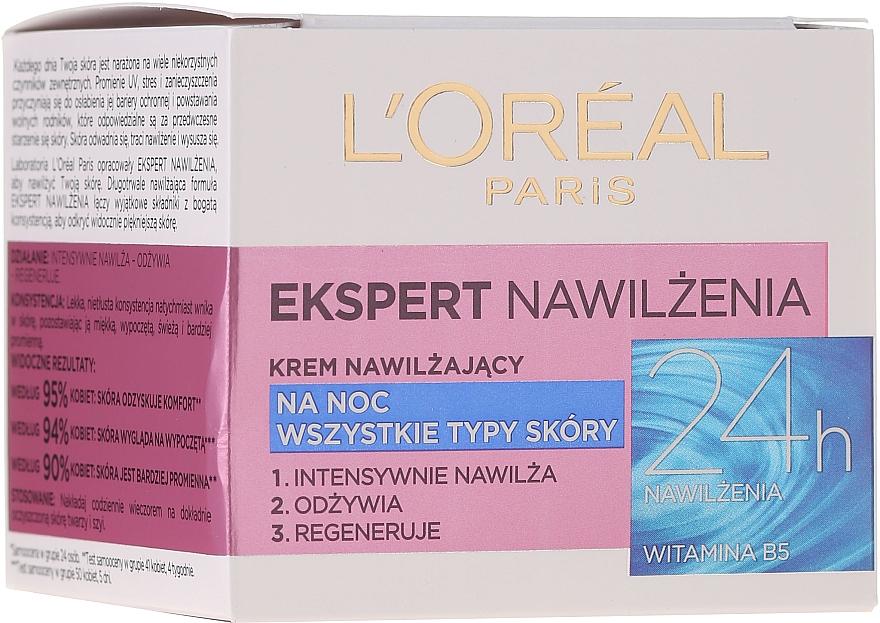 Feuchtigkeitsspendende Nachtcreme - L'Oreal Paris Face Cream