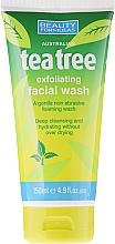 Düfte, Parfümerie und Kosmetik Gesichtspeeling für alle Hauttypen mit Teebaum-Extrakt - Beauty Formulas Tea Tree Exfoliating Facial Wash