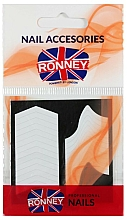 Düfte, Parfümerie und Kosmetik Schablonen für französische Maniküre - Ronney Professional