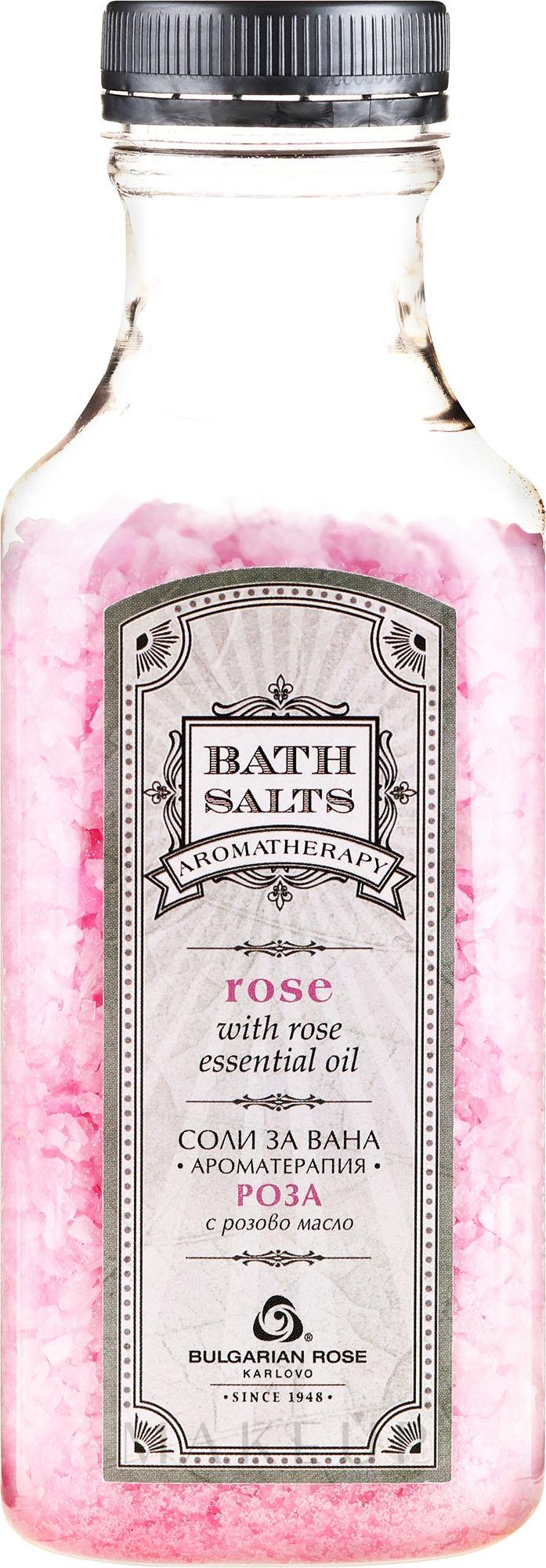 Badesalz mit Rosenöl und Rosenblüten - Bulgarian Rose Bath Salts Rose — Bild 440 g