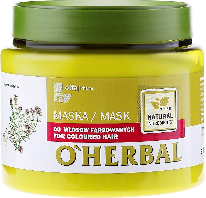 Haarmaske für coloriertes Haar - O'Herbal