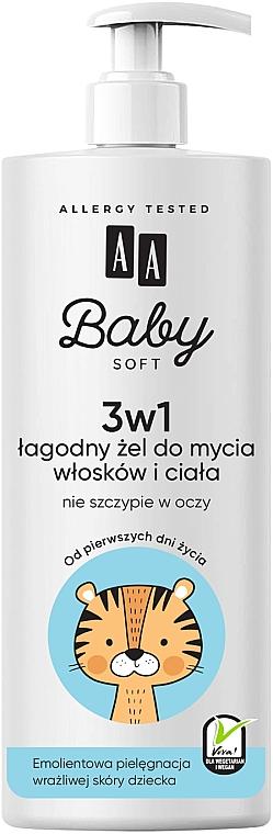 3in1 Mildes Haar- und Körperreinigungsgel für Kinder und Babys - AA Baby Soft