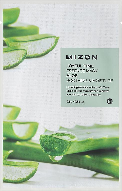 Beruhigende Tuchmaske für das Gesicht mit Aloe - Mizon Joyful Time Essence Mask Aloe