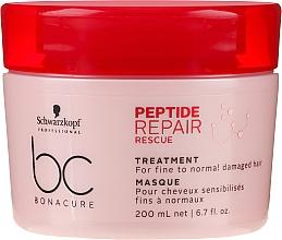 Düfte, Parfümerie und Kosmetik Aufbauende Intensivkur für feines, normales und geschädigtes Haar - Schwarzkopf Professional BC Bonacure Peptide Repair Rescue Treatment Mask