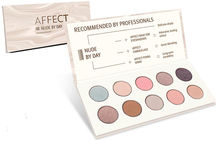 Lidschattenpalette - Affect Cosmetics Nude By Day Eyeshadow Palette