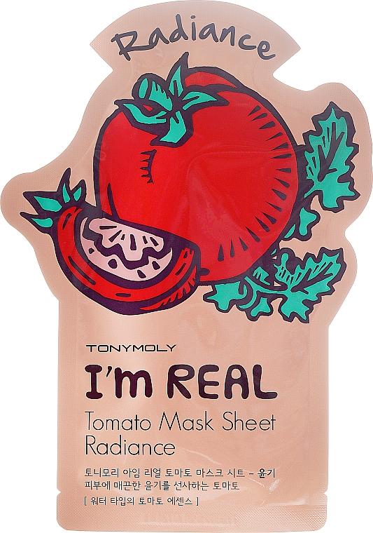 Revitalisierende und antioxidative Tuchmaske mit Vitamin E und Tomaten-Extrakt - Tony Moly I'm Real Tomato Mask Sheet