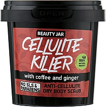 "Düfte, Parfümerie und Kosmetik Anti-Cellulite Körperpeeling ""Cellulite Killer"" - Beauty Jar Anti-Cellulite Dry Body Scrub"