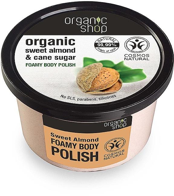 Körperpeeling mit Bio Mandelöl und braunem Zucker - Organic Shop Foamy Body Scrub Organic Sweet Almond & Sugar — Bild N1