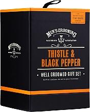 Düfte, Parfümerie und Kosmetik Scottish Fine Soaps Men's Grooming Thistle & Black Pepper - Duftset (Eau de Toilette 50ml + Haar-und Körperwäsche 75ml + After Shave Balsam 75ml)
