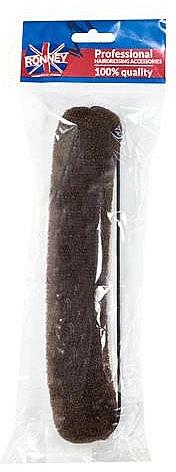 Professioneller Haar Donut mit Gummi, 23 cm, braun - Ronney Professional Hair Bun With Rubber 059 — Bild N1