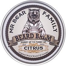 Düfte, Parfümerie und Kosmetik Bartbalsampflege mit Arganöl, Hagebuttensamenöl und Sonnenblumenöl für geschmeidiges Barthaar - Mr. Bear Family Beard Balm Citrus