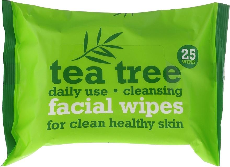 Gesichtsreinigungstücher 25 St. - Xpel Marketing Ltd Tea Tree Facial Wipes For Clean Healthy Skin