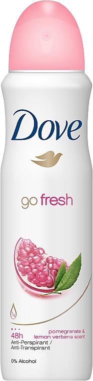 Deospray Antitranspirant - Dove Go Fresh Pomegranate & Lemon Deo