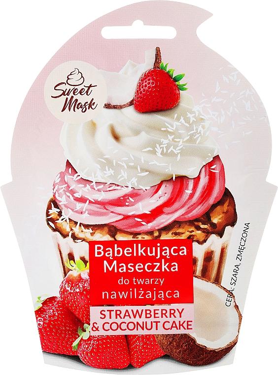 Feuchtigkeitsspendende Schaummaske für müde Gesichtshaut - Marion Sweet Mask Strawberry & Coconut Cream