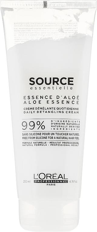 Vegane Haarspülung zur täglichen Anwendung für alle Haartypen - L'Oreal Professionnel Source Essentielle Daily Detangling Cream