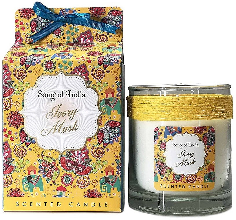 Duftkerze im Glas Ivory Musk - Song of India Ivory Musk Scented Candle