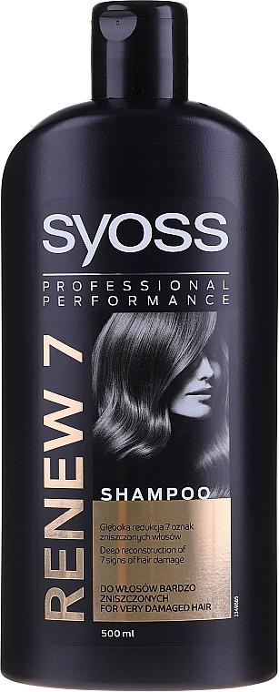 Nährendes Shampoo für trockenes und geschädigtes Haar - Syoss Renew 7 Complete Repair Shampoo