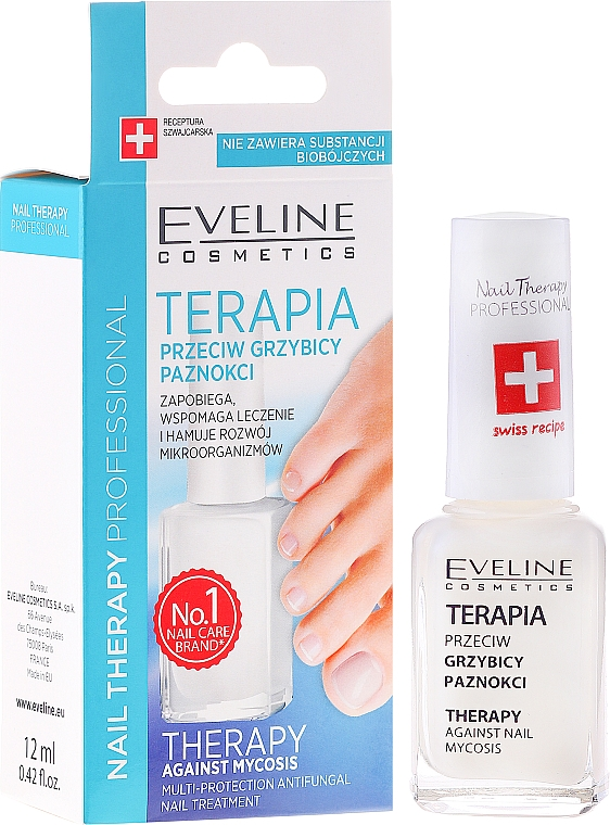 Antimykotische Nageltherapie - Eveline Cosmetics Nail Polish for Nail Fungus Feet & Hands Mykose