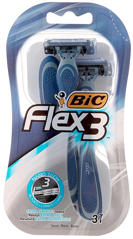 Einwegrasierer Flex 3 3 St. - Bic Flex 3