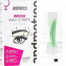 Düfte, Parfümerie und Kosmetik Augenbrauen Kaltwachsstreifen - Andmetics Brow Wax Strips Women (Streifen/4x2 St.+ Öltücher/4 St.)