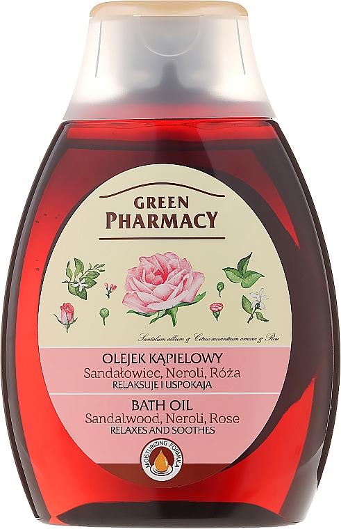 Badeöl mit Sandelholz, Neroli und Rose - Green Pharmacy