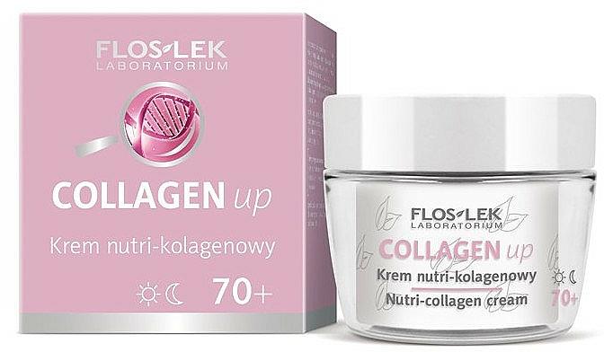 Regenerierende Gesichtscreme für Tag und Nacht mit Kollagen 70+ - Floslek Collagen Up Nutrii-collagen Cream 70+