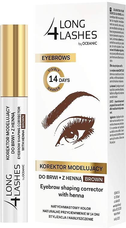 Formkorrektur-Stift für Augenbrauen mit Henna - Long4Lashes Eyebrow Shaping Corrector with Henna