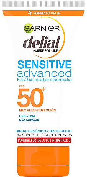 Sonnenschutz Gesichtscreme SPF50 - Garnier Ambre Solaire Sensitive Sun Cream SPF50+