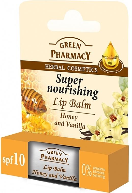 Nahrhafter Lippenbalsam mit Honig und Vanille SPF 10 - Green Pharmacy Lip Balm With Honey And Vanilla