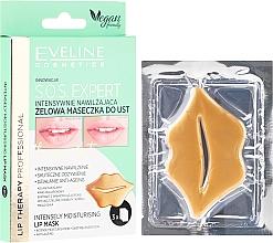 Düfte, Parfümerie und Kosmetik Intensiv feuchtigkeitsspendende und regenerierende Gel-Lippenmaske - Eveline Cosmetics Lip Therapy S.O.S. Expert Intensely Moisturising Lip Mask
