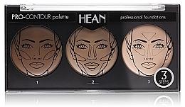 Düfte, Parfümerie und Kosmetik Konturierpalette mit 3 Farben - Hean Pro-Countour Palette