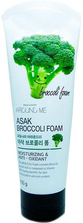 Feuchtigkeitsspendender und antioxidativer Gesichtsreinigungsschaum mit Brokkoli-Extrakt - Welcos Around Me Broccoli Foam