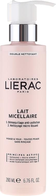 Mizellen-Reinigungsmilch zum Abschminken für Gesicht und Augen - Lierac Double Nettoyant Lait Micellaire