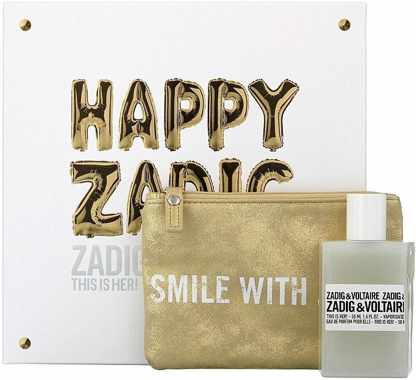Zadig & Voltaire This is Her - Duftset (Eau de Parfum 50ml + Kosmetiktasche)