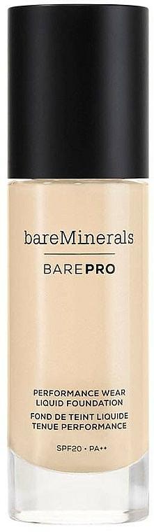 Flüssige Foundation mit LSF 20 - Bare Escentuals Bare Minerals Barepro 24-Hour Full Coverage Liquid Foundation SPF 20