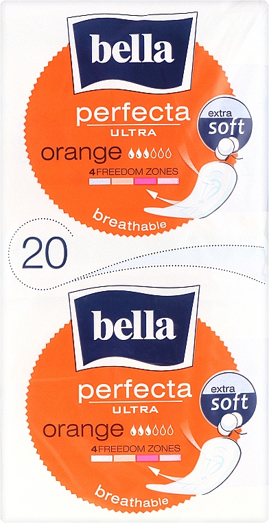 Damenbinden Perfecta Ultra Orange 10+10 St. - Bella